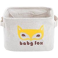 ホーム収納用品 綿 リネン  ホームベッドルームコンテナボックス ホームオーガナイザー タイプ3 狐