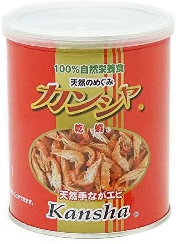 【フリーズドライ天然エビ】 カンシャ缶 80g 3個セット【サン・クロレラ サンプル付き】