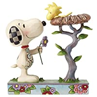 PEANUTS DESIGNS BY JIM SHORE フィギュア スヌーピー&ウッドストック Nest Warming Gift #4054079 4054079