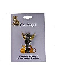 Cat Lover Angel帽子ラペルピンbingcat1