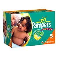 Pampers Baby Dry Diapers Economy Plus Pack, Size 5, 156 Count by Pampers
