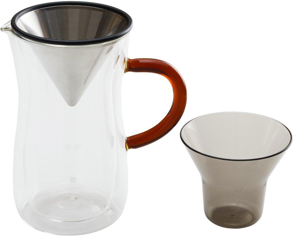BONMAC ダブルウォール コーヒーカラフェセット クリア 700ml