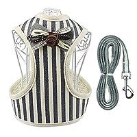 LoveIyPet 犬の鎖のベストペットの胸部ストラップ反射犬のロープペット用品 (Color : Gray, Size : M)