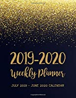 July 2019 - June 2020 Calendar: 2 Year Daily Weekly Monthly Calendar Planner For To Do List Academic Schedule Agenda Logbook Or Student And Teacher Organizer Journal Notebook, Appointment Business Planners With Holidays | Black Gold Star Design (2019-2020 planner)