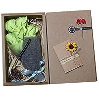 7個/箱バラ石鹸の花ギフトボックス装飾花バブルバス花びら グリーン