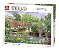 King April Cottage Jigsaw Puzzle (1000 Pieces) by KING