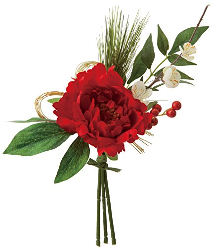[해외]양귀비 계절 장식 정월 장식 모란 믹스 무리 레드 FS-5165R/Poppies Season Decoration New Year Ornament Peony Mix Bunch Red FS-5165R