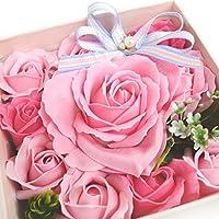 みどりの時間 NEW ソープフラワー フレグランス バラ10輪 誕生日 プレゼント ギフト (ピンク)