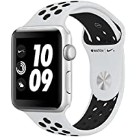 Apple Watch Nike+ Series3 シルバーアルミニウムケースとピュアプラチナ/ブラックNikeスポーツバンド アップルウォッチ ナイキ シリーズ3 本体 (42mm, GPSモデル)