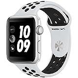 ナイキ スポーツ Apple Watch Nike+ Series3 シルバーアルミニウムケースとピュアプラチナ/ブラックNikeスポーツバンド アップルウォッチ ナイキ シリーズ3 本体 (42mm, GPSモデル)