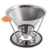 E-PRANCE® コーヒードリッパー ステンレスフィルター フィルター不要 4カップ