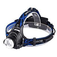 Littleliving ヘッドライト LEDヘッドランプ アウトドアライト 防水 軽量 高輝度 角度調節可能 ズーム機能付 ハイキング/夜釣り/作業/自転車/キャンプに最適