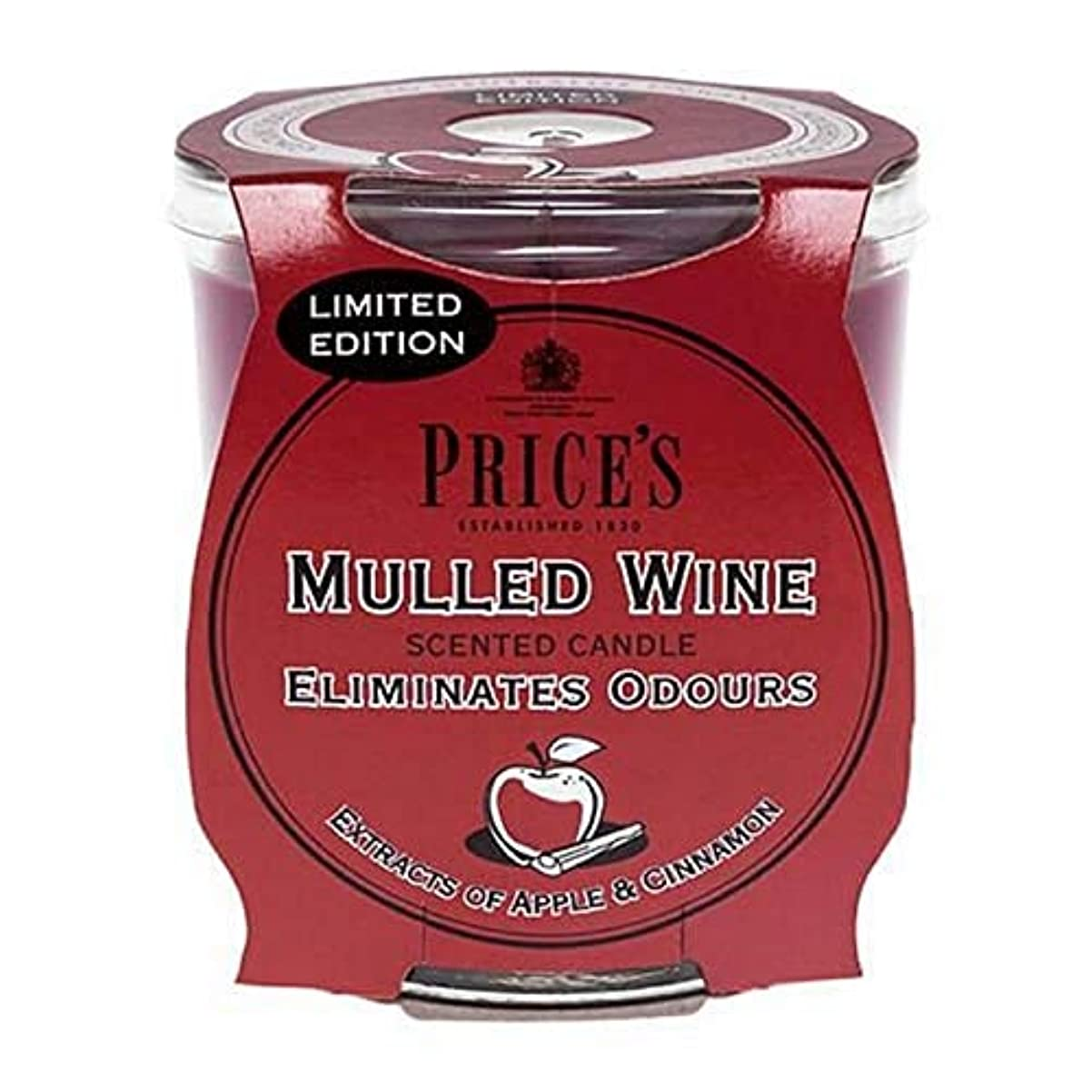 災難フルーツ野菜[Prices ] 価格の遺産は、ワインの香りのキャンドルをグリュー - Price's Heritage Mulled Wine Scented Candle [並行輸入品]