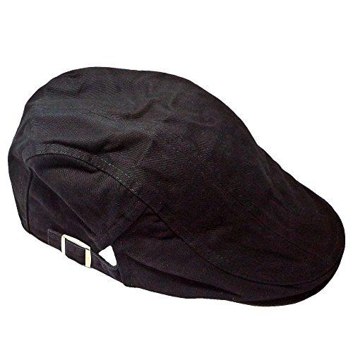 ルルハウス 選べる色 メンズ ハンチング 帽 おしゃれ 帽子 (黒)