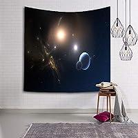 惑星パターンプリントタペストリー壁掛けホームベッドヨガマットシートテーブルクロスビーチブランケット壁の背景ヒッピーベッドスプレッドタペストリーGT - 162 (色 : 2, サイズ : 130*150)