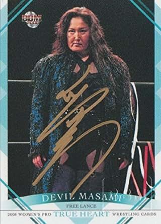 BBM プロレス デビル雅美 直筆 サイン カード 28枚限定 2008 ベースボールマガジン社
