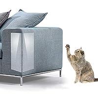 CoolMart 爪研ぎステッカー 猫用 猫の爪みがき 爪とぎ 家具保護ステッカー 透明PVC ソファー ベッド ソファ傷防止 ソファプロテクター ペット用品 2枚入