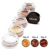 【10色のうち、3色選択】しっとりきらきらアイシャドウ ジュエルジェルアイシャドウ (IDEEB Jewel Gel Eyeshadow) 3g * 3個 (選択3. 02+04+05)