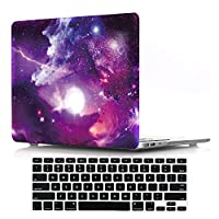 "Macbook Air 13"" Case with Keyboard Cover,DIGIC Hard Plastic Cover Case with Keyboard Protector for Macbook Air 13.3 inch(A1369/A1466),Aesthetic Star"