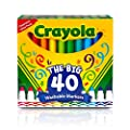 Crayola The Big 40 Washable Markers, Ultra Clean, Gift,…