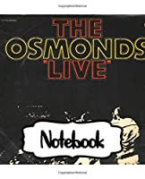 "Notebook: The Osmonds American Family Music Group 1960s Osmond Brothers R&B Pop Disco, Large Notebook for Drawing, Doodling or Writting: 110 Pages, 7.5"" x 9.25"". Kraft Cover Notebook ( Blank Paper Drawing and Write Notebooks )"