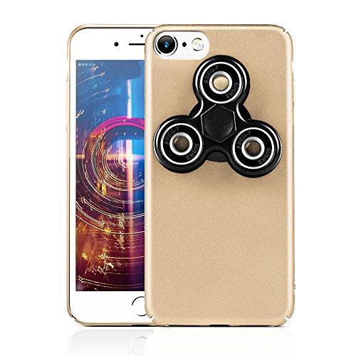 HAOCOOハンドスピナー iPhone 7 ケース Hand spinner iPhone Case 衝撃吸収バンパー 擦り傷防止 ストレス解消 アイフォン 7用のハンドスピナーコンボケース (iPhone 7  4.7インチ, ゴールデン)