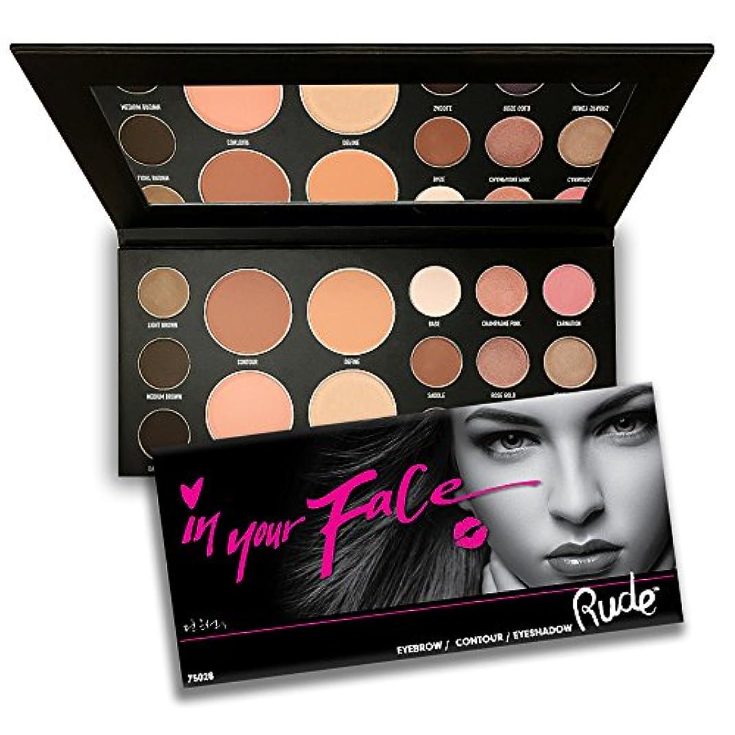ひそかに担当者改善(6 Pack) RUDE In Your Face 3-in-1 Palette (並行輸入品)