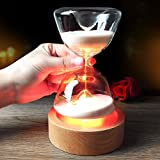 間接照明 LED Tengis インテリア 15分砂時計 USB充電式 13色切替 明るさ調節可能 リモコン付き カウントダウン機能 雰囲気作り プレゼントに最適 子供 父の日 オシャレ 癒し系