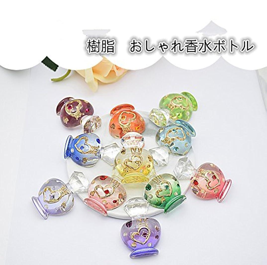 種類プーノフォームJABIT 大きめおしゃれ香水ボトル樹脂パーツ-手芸 クラフト 生地 材料 (デコパーツ ワインレッド)