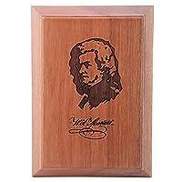 木製のミュージシャンカード 世界的に有名なミュージシャンモーツァルトの肖像画 グッズ クラフト 飾り
