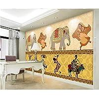 Ansyny 3D部屋の壁紙カスタム壁画不織布壁のステッカーヨーロッパ民俗カスタム写真テレビソファの背景壁紙用壁-130X100CM