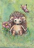"Oopsy Daisy Annabelle's Garden Canvas Wall Art, Green/Pink, 10"" x 14"" [並行輸入品]"