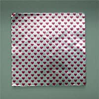 "6 "" x 6 "" Valentines Day印刷 – Red Hearts onシルバー – 菓子箔ラッパーキャンディーWrappersキャンディMaking Supplies"