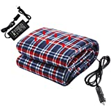 Heated Blanket, 12V Electric Car Blanket, 220V Electric Blankets for Car Auto Supplies RV Comfortable Heating Blanket with AC