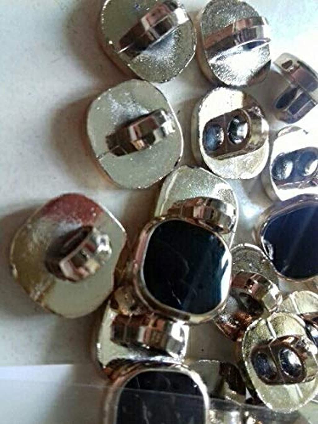 鉱石宇宙のケイ素Propenary - 衣料品クリスマススクラップブック作りノエルアクセサリー縫製コートのボタンScrabookのための100pcs DIY手作りメタルスナップボタン