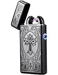 Tenfel ライター 電子ライター USB充電式 プラズマ ターボライター 点火ライター