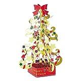 サンリオ クリスマスカード 洋風 立体 蓄光金箔サンタツリー  S6197