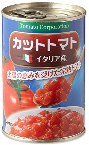 トマトコーポレーション カットトマト(イタリア産) 4号缶 400g×24個
