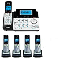 VTech DS6151 2-Line Expandable Cordless Phone with Digital Answering System and Caller ID with 4 Extra DS6101 Handsets [並行輸入品]