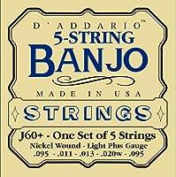 D'Addario ダダリオ バンジョー弦 J60+ 5st/Light Plus/Nickel 【国内正規品】
