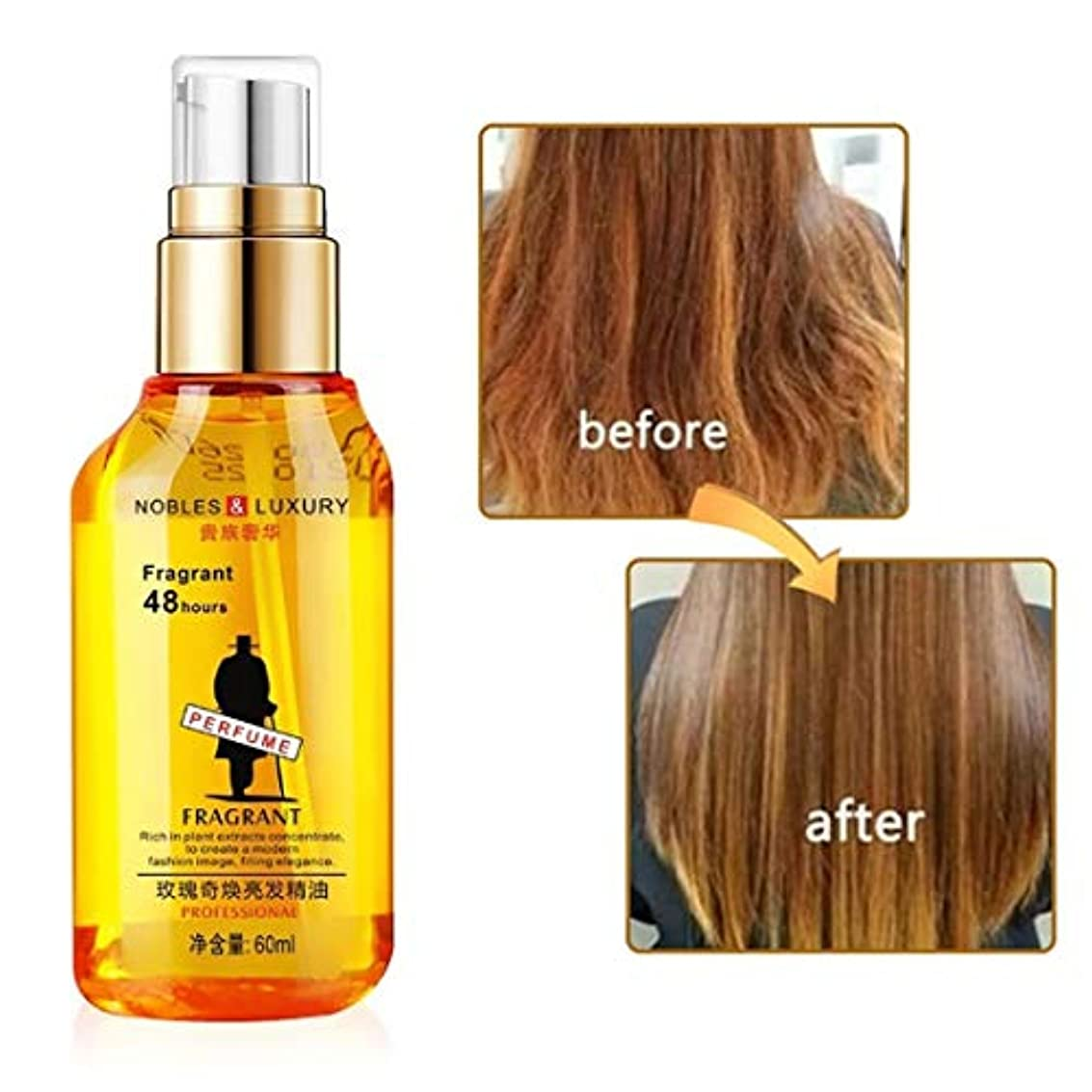 匿名君主制くびれたハーブの毛の成長の反毛損失の液体は厚く速い毛の成長の処置を促進します60ml精油のヘルスケアの美の本質