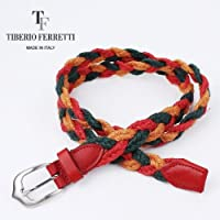 TIBERIO FERRETTI ティベリオフェレッティ 麻メッシュベルト 9381 (グリーン)