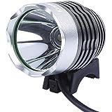 【Yjb】最大1200ルーメン CREE XML-T6 《3 段階調整》 防水 LED充電式自転車ライト・ヘッドライト(光量安定タイプ)