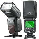 スピードライト K&F Concept フラッシュ カメラ ストロボ Nikon用 KF-882 TTL対応 1/8000sハイスピードシンクロ GN56 リサイクルチャージタイム2.9 s マスター/スレーブ オートフォーカス Nikonデジタル一眼レフカメラに対応 (Nikonカメラ適用)…