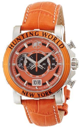ハンティングワールド HUNTING WORLD メンズ腕時計 IRIS イリス クロノグラフ 41mm オレンジ HW913OR