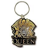 ボヘミアン・ラプソディ11月公開記念 QUEEN クイーン - GOLD CRESTメタル・ゴールド/キーホルダー 【公式/オフィシャル】