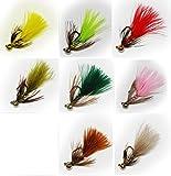 管釣りチューン・フェザージグ「激釣!ジグ坊や」 (基本カラー 8 color set, Lサイズ)