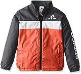 (アディダス)adidas トレーニングウェア エッセンシャルズ ウインドブレーカージャケット(裏起毛) BVA33 [ボーイズ] AZ7418 ビビッドレッドS13/ブラック J150
