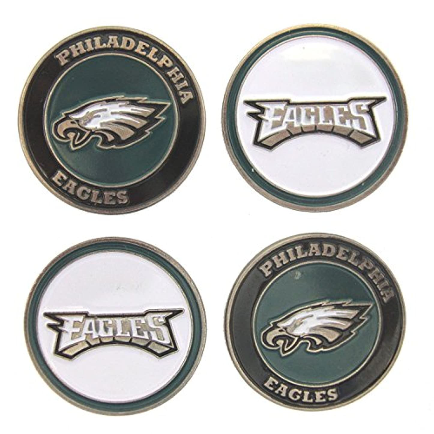 リマーク支給永遠にPhiladelphia Eaglesゴルフボールマーカー( Set of 4 )