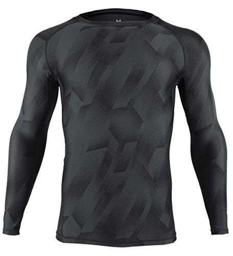 (オナー)HONOUR コンプレッションウェア メンズ 長袖 加圧インナー スポーツシャツ UA01L-GY L